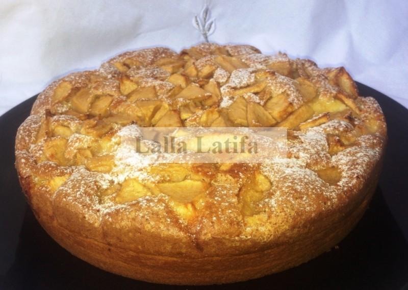 les secrets de cuisine par lalla latifa - gâteau aux pommes et à