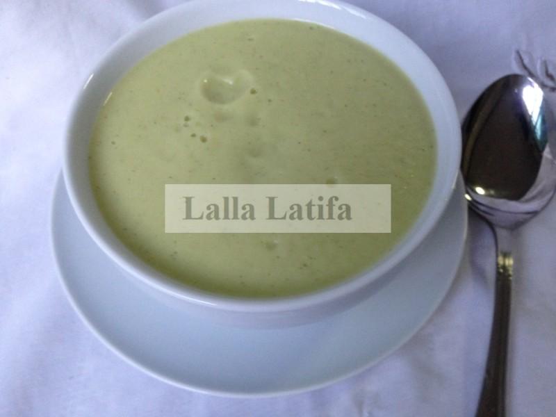 soupe ou velouté de courgettes
