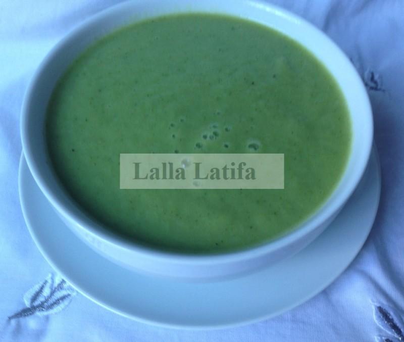 Les secrets de cuisine par lalla latifa velout au chou vert brocoli et au navet au thermomix tm5 - Veloute brocolis thermomix ...